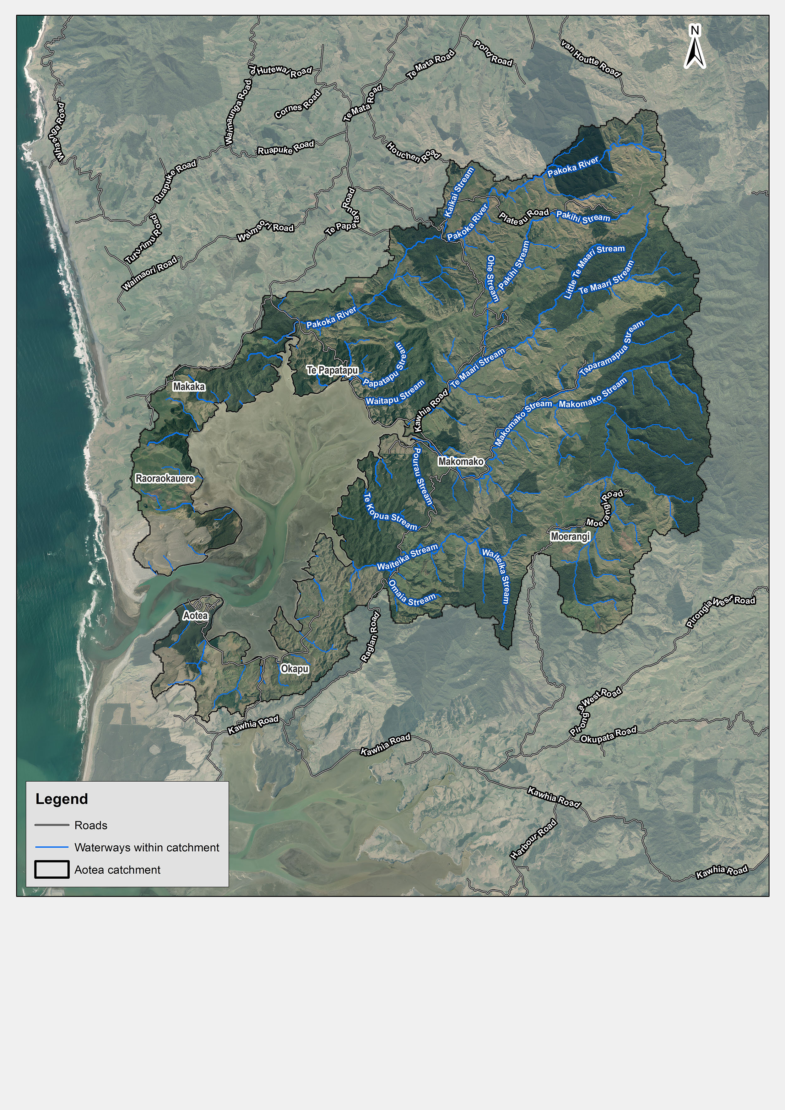 Aotea Catchment Overview Map1